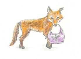 Fox and handbag