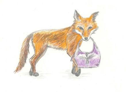 Fox and handbag