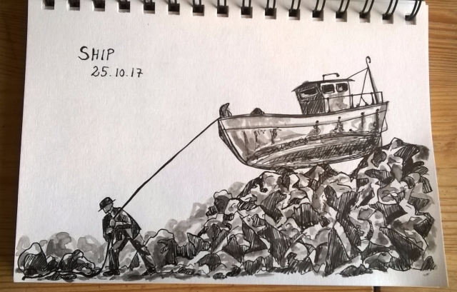 251017 Ship Inktober