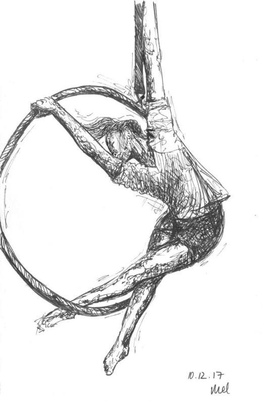 1711 Aerial hoop