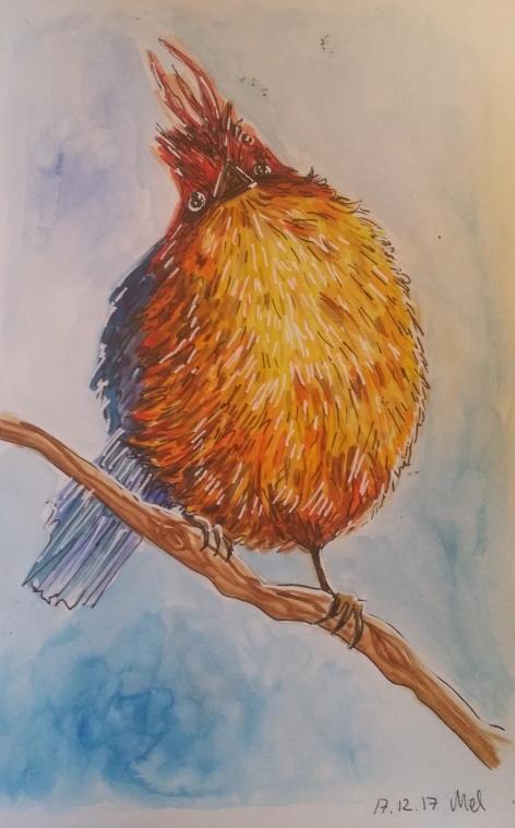 1712 Bird water color