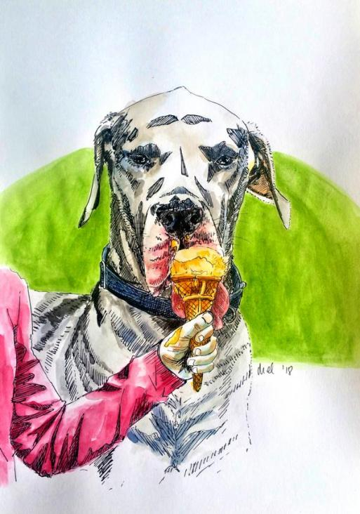 1801 Great Dane ice cream