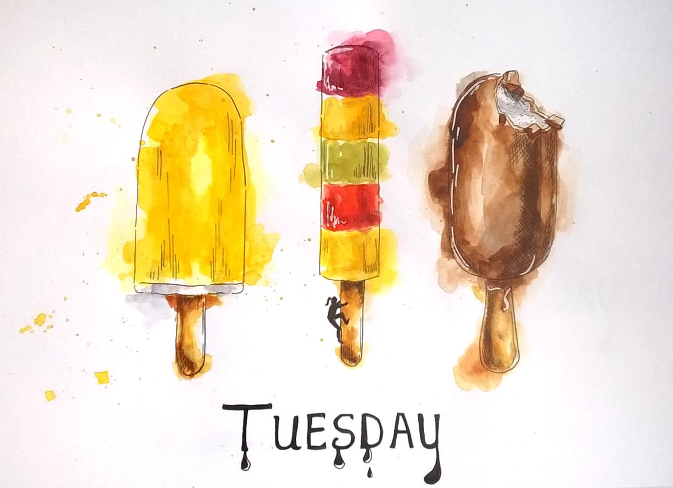 1803 Tuesday ice cream by Melanie Franz