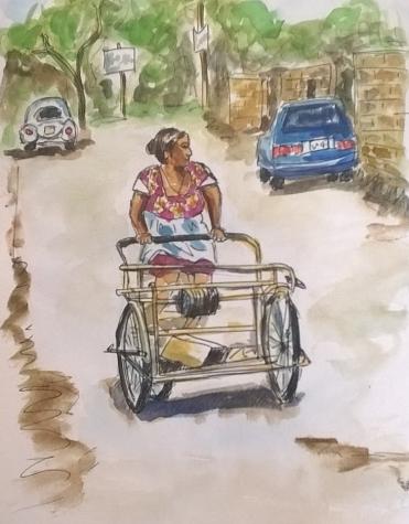 1803 Tulum Bike lady by Mel
