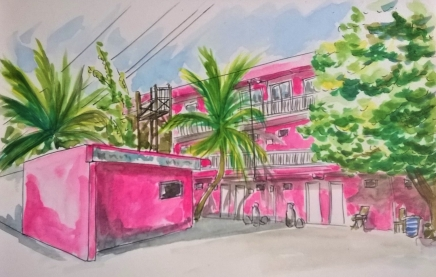 1803 Tulum pink house by Mel