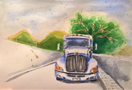 1804 Malinalco Big white truck