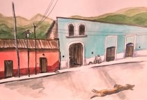 1804 Malinalco blue house