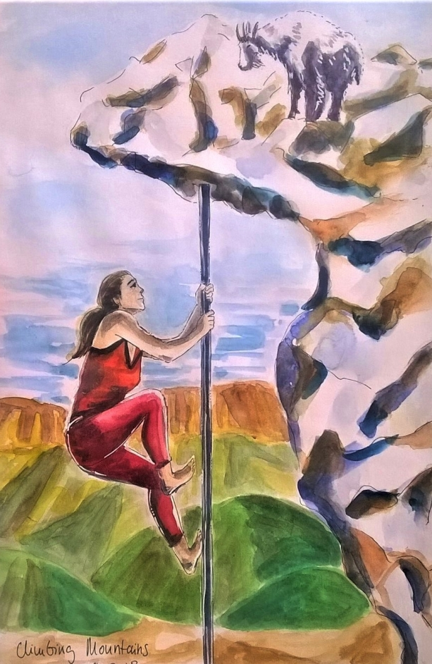 180709 Climbing Mountains_ Worldwatercolourmonth_ Melanie Franz