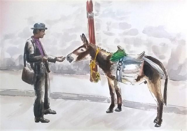 1808 Malinalco Poet and Donkey_Melanie Franz