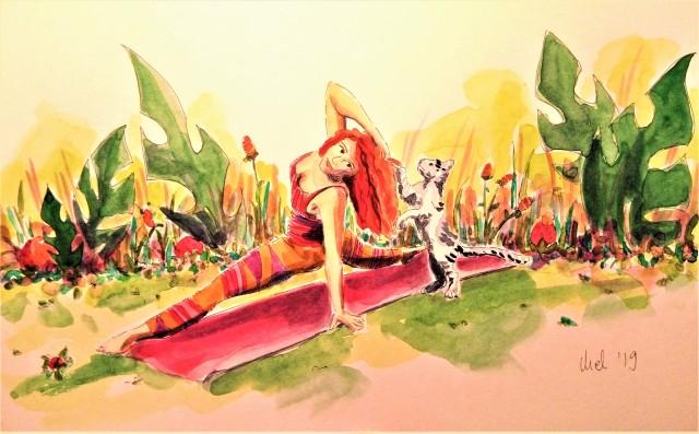 1905 Athens cat yoga _ Melanie Franz