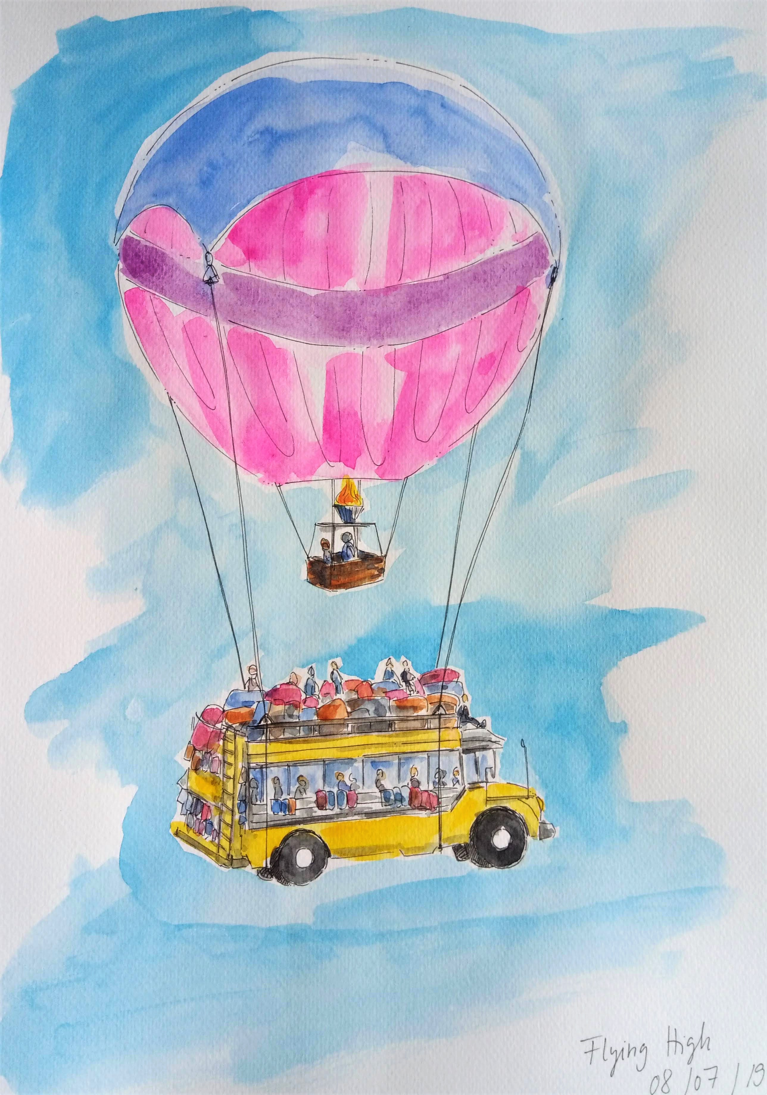 190708 Flying High_WorldWatercolorMonth_Melanie Franz