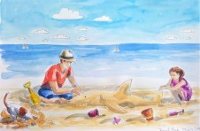 190723 Beach Fun_WorldwatercolorMonth_Melanie Franz