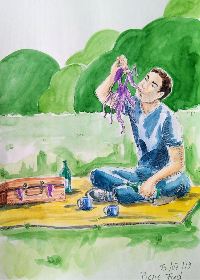 190703 Picnic Food_WorldWatercolorMonth_Melanie Franz