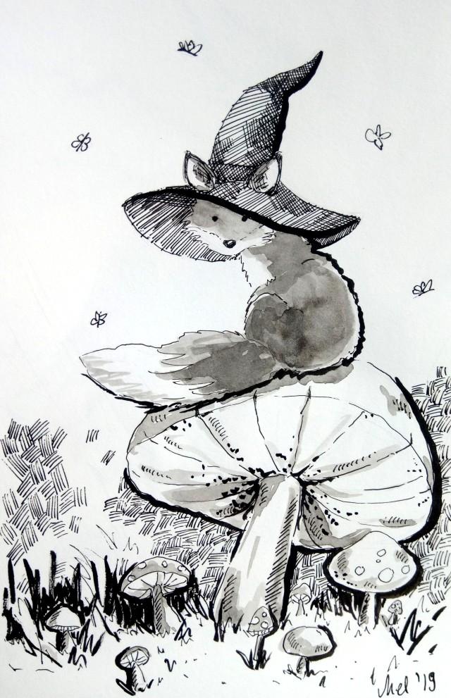 191007 Inktober_Enchanted_Melanie Franz