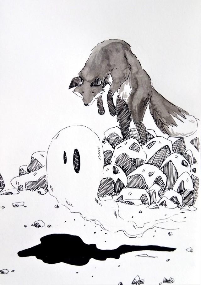 191022 Inktober_Ghost_Melanie Franz
