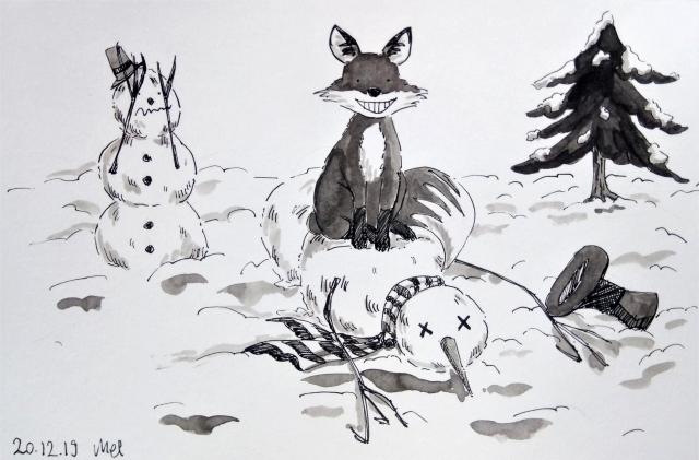 191220 Snowman Fox Battle_Melanie Franz