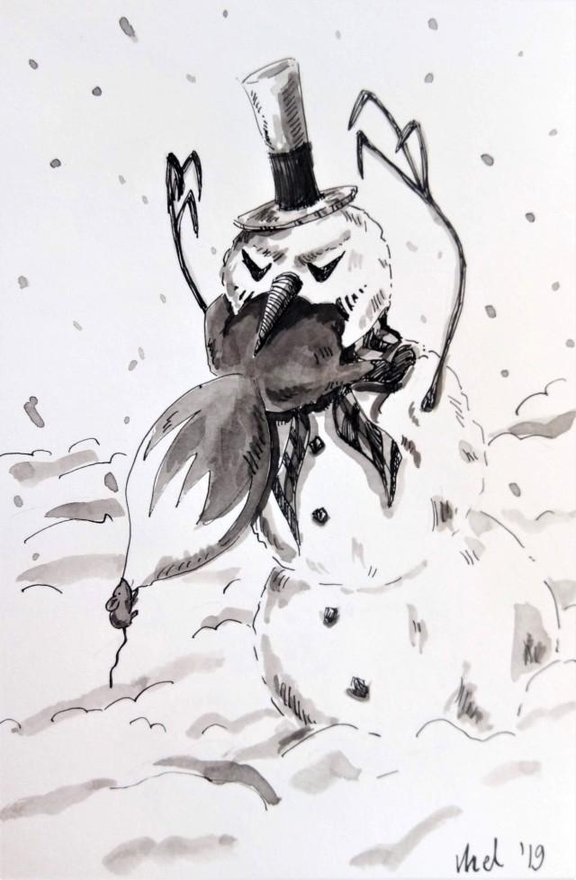 191220 Snowman Fox_Melanie Franz