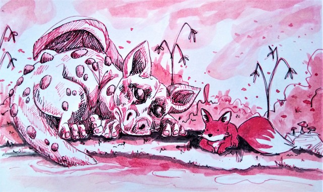 2001-red-ink-dragon-and-fox_Melanie Franz