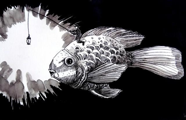 201001-inktober_fish_Melanie Franz