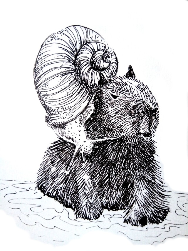 201031-inktober-crawl-Capybara -Melanie Franz