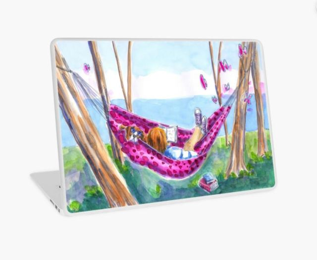 redbubble laptop skin hammock Melanie Franz