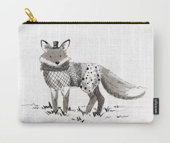 Society 6 - Fox fashion - Melanie Franz