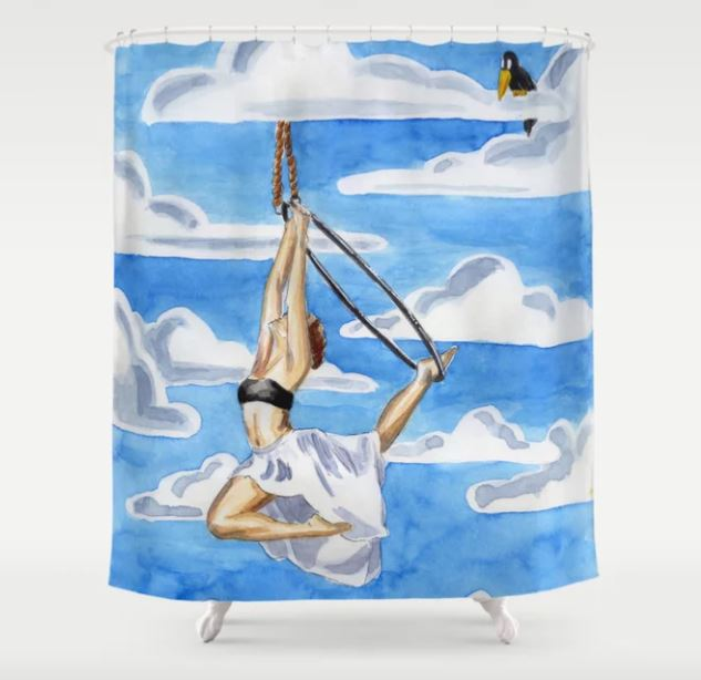 society 6 shower curtain Aerial Hoop Melanie Franz