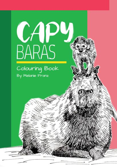 Capybara colouring book Melanie Franz