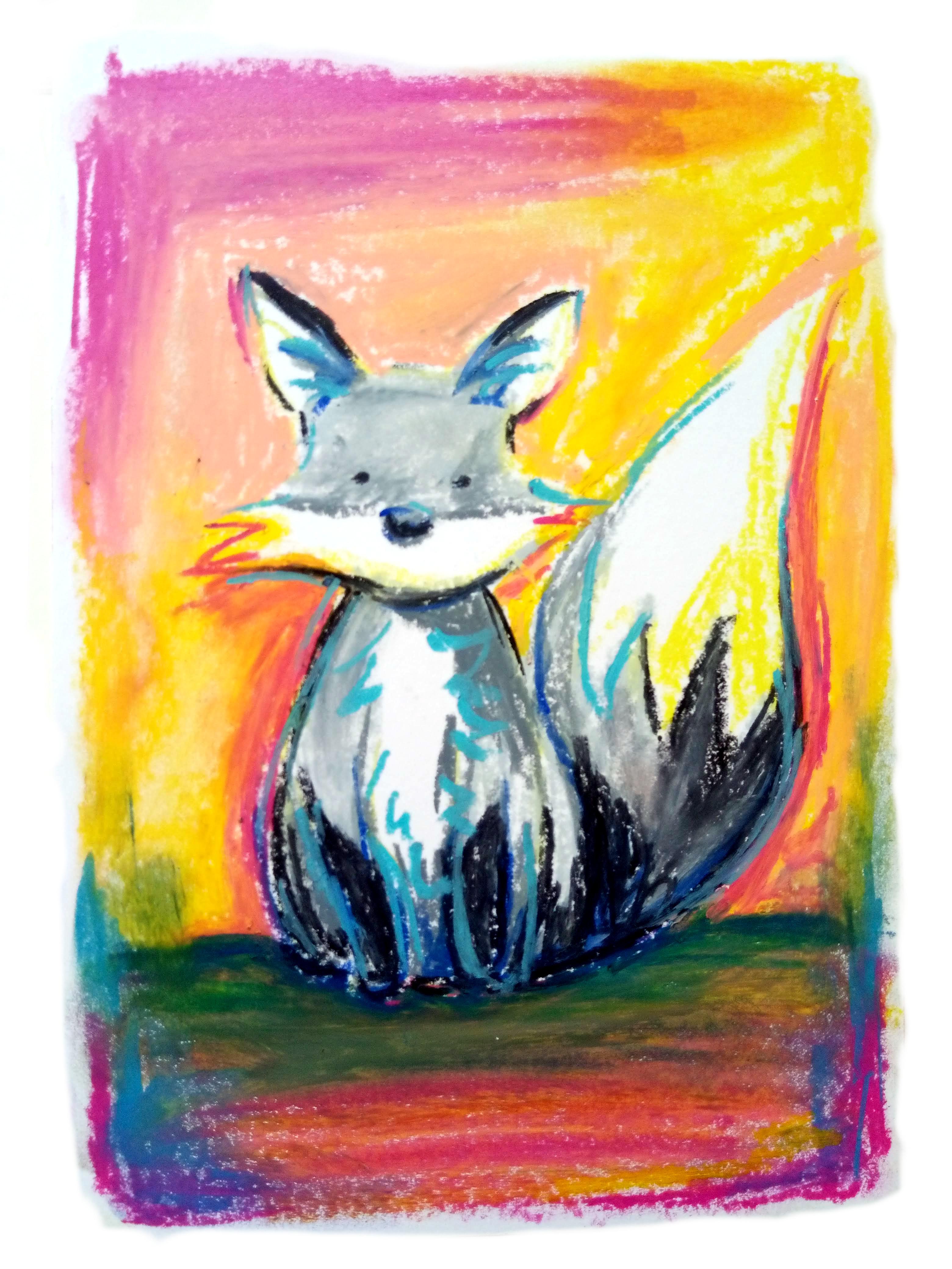 2108 Caran d'ache oil crayon Mr Fox_Melanie Franz