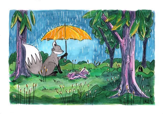 Fox and Mouse Umbrella Forest_Melanie Franz